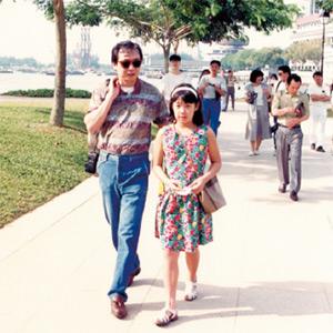 平成4年、シンガポールへの社員旅行。