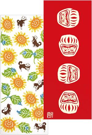 季節物の商品も人気がある。右は一番の売れ筋商品「七転八起」。