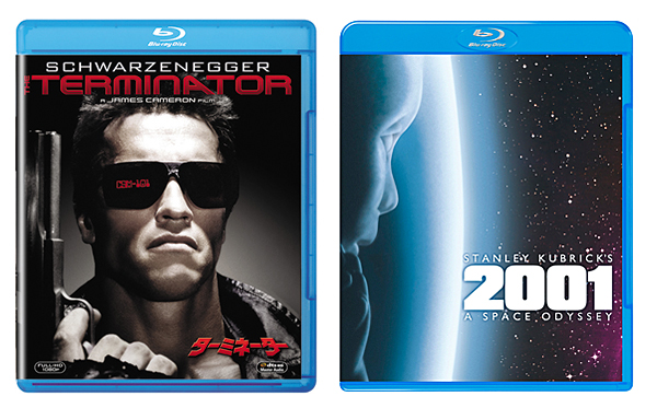 意思を持った人工知能によって支配されているロボットと人間が戦う2029年の近未来を描いた「ターミネーター」(写真左)20世紀フォックスホーム エンターテイメント ジャパン/ターミネーター ブルーレイ発売中 ¥1,905(税抜き)。 宇宙船をつかさどる人工知能「HAL9000」が、人間の矛盾した命令により暴走を始める「2001年宇宙の旅」(写真右)ワーナー・ブラザース・ホームエンターテイメント⇒2001年宇宙の旅 ブルーレイ発売中 ¥2,381(税抜き)・DVD ¥1,429 (税抜き)。