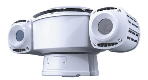 1台でCCTVカラーカメラ、赤外線サーマルカメラの2つを備える。