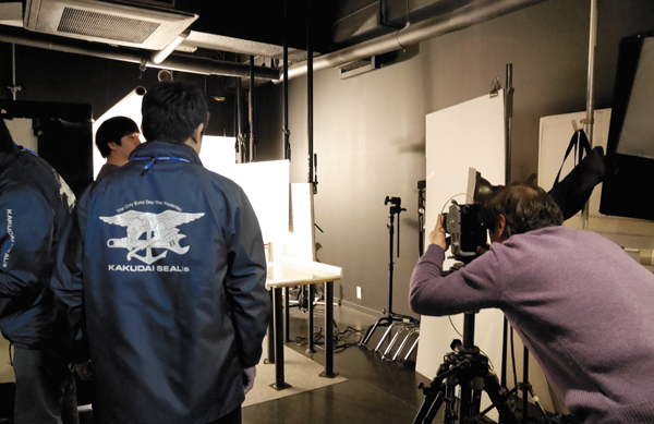 社内にある制作部がカタログや広告を手がける。