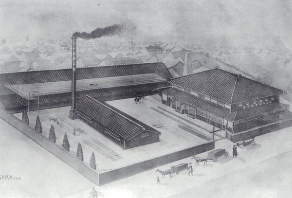 1905年、現在の大阪市西成区今宮に約1,000㎡の敷地に500㎡の工場と居宅を建設し創業。