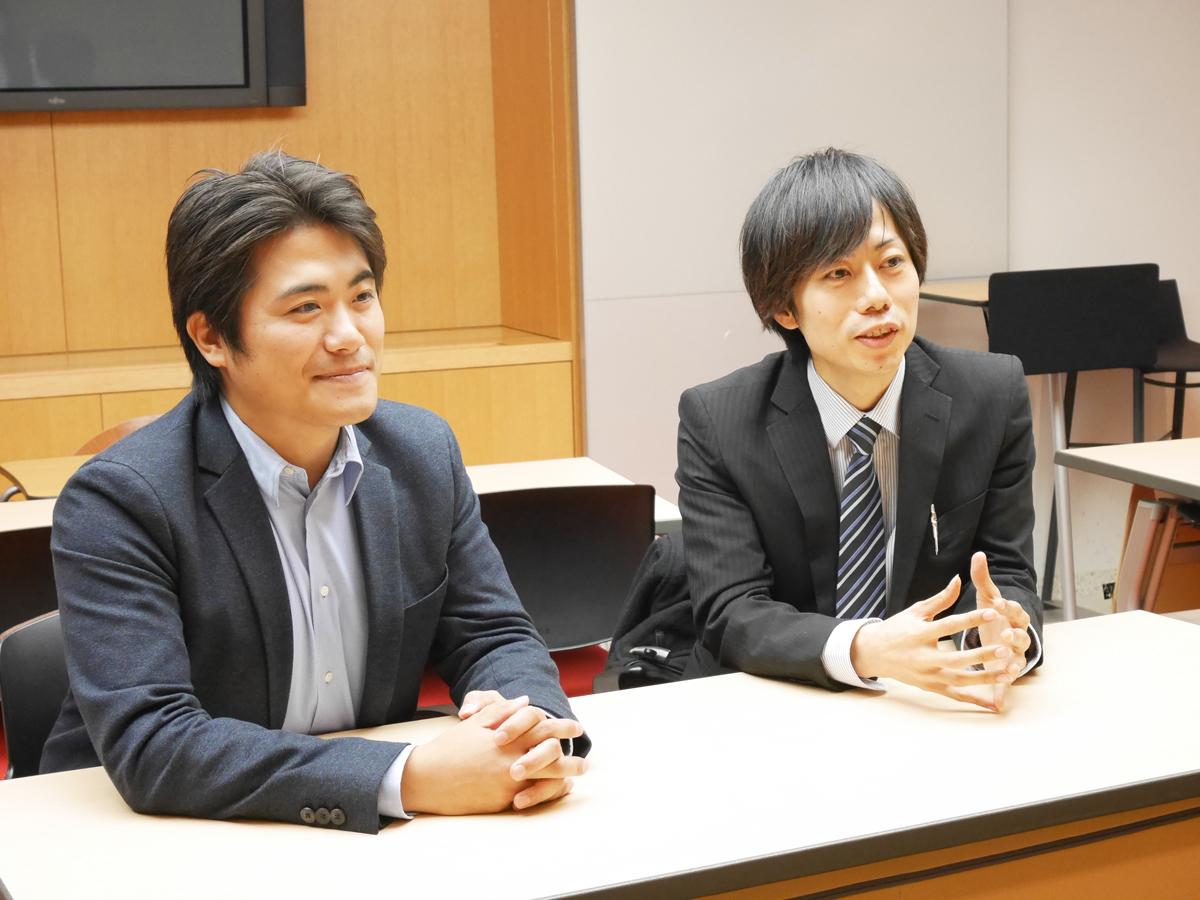 代表取締役CEO 藤戸達也氏(左)、代表取締役COO 宮下裕道氏(右)
